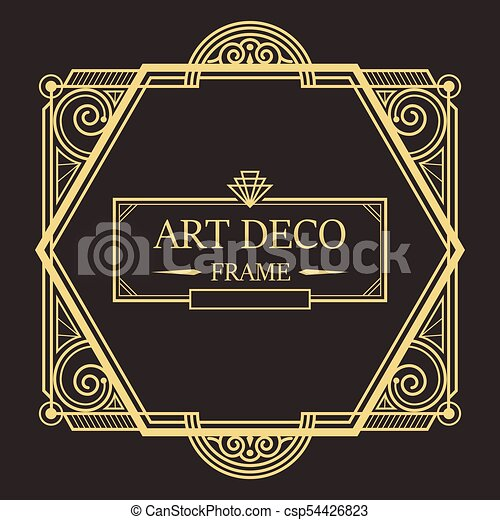 art deco border frame vector02 art deco border and frame style rh canstockphoto com art deco borders uk art deco border tiles uk