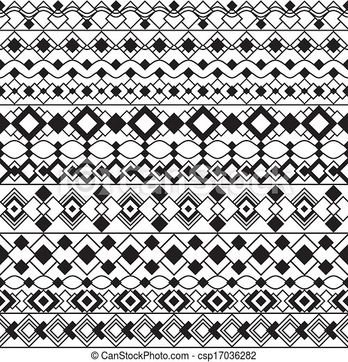 Art deco borders in black and white csp17036282