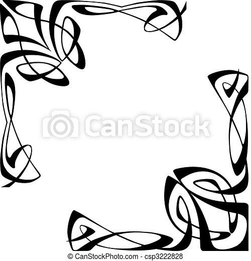 Art deco corners - csp3222828
