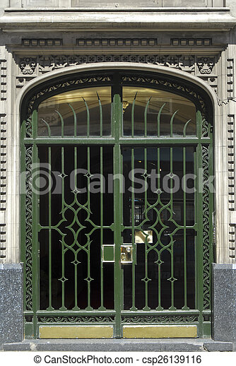 Art Deco Door In Buenos Aires   Csp26139116