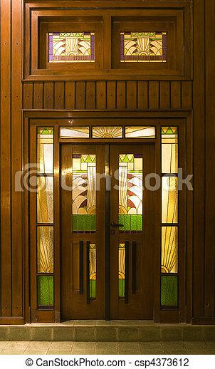Art Deco Door   Csp4373612