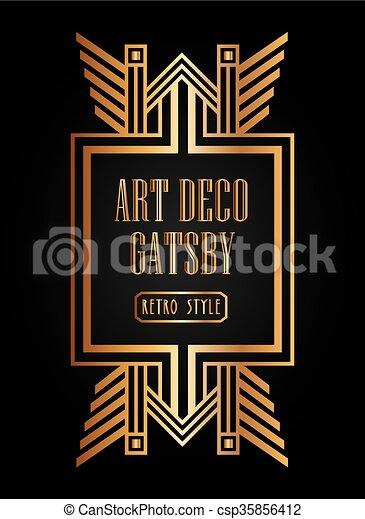 Art deco element gatsby design . Art deco element design, vector ...