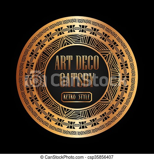 Art deco element gatsby design . Art deco element design,... vector ...