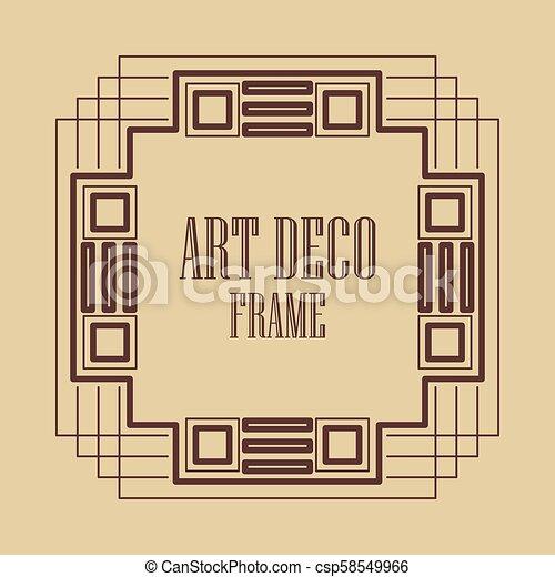 Art Deco Frame Vintage Art Deco Border Frame Template For Design