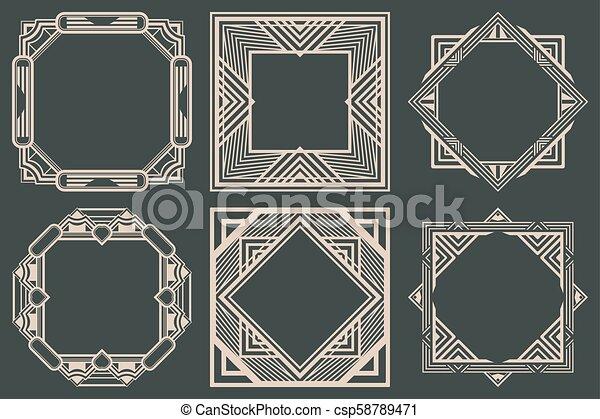 Art Deco Frames - csp58789471