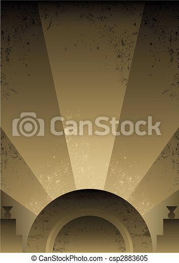 Art Deco Futurist style background design - csp2883605