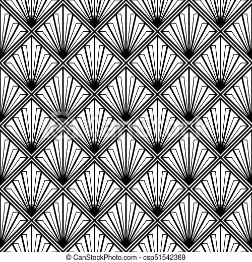 Art Deco Monochrome Seamless04 Art Deco Monochrome Seamless Arabic