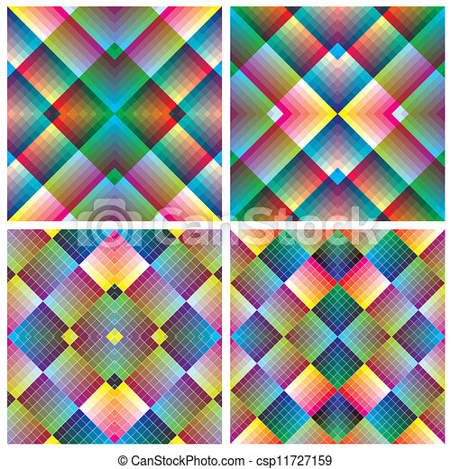 Art Deco Mosaic Tile In Retro Style Seamless Vector Pattern In - Art deco mosaic tile patterns