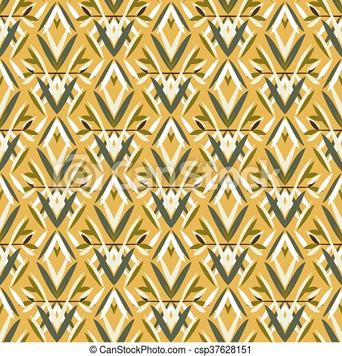 Vector art deco pattern with floral motifs 1920s fashion... clipart ...