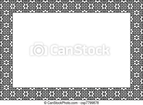 Art deco vector frame  - csp7799878