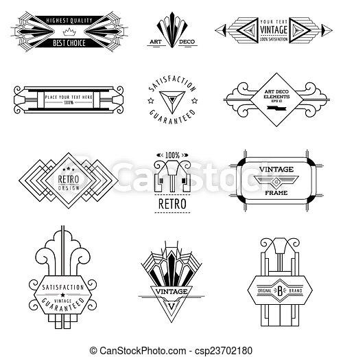 art deco vintage frames and design elements in vector rh canstockphoto com art deco vector pack download art deco vectoriel