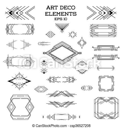 Art deco vintage frames and design elements - in vector.