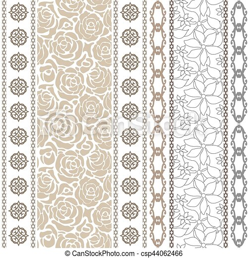 Art deco vintage silk wallpaper with ethnic motifs and... clip art ...