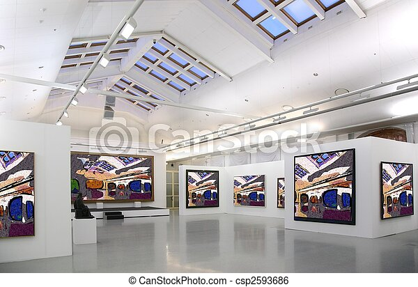 art gallery 2. all pictures just filtred whole photo - csp2593686
