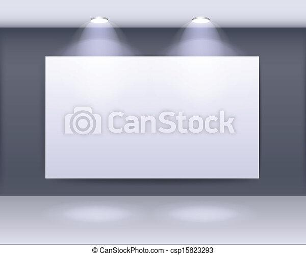 art gallery frame design - csp15823293