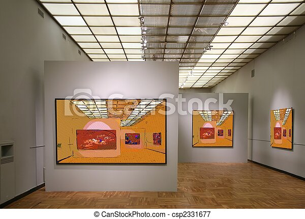 art gallery7. All pictures on wall just filtered whole this photo - csp2331677