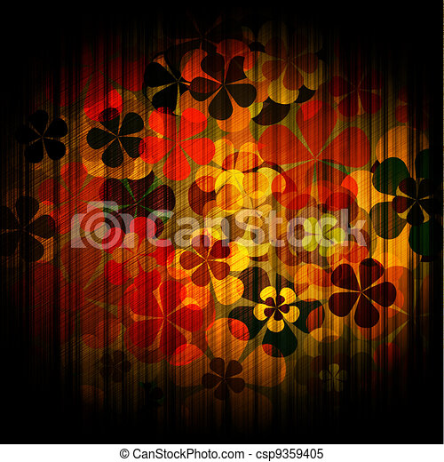 art grunge vintage floral background - csp9359405
