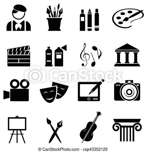 Art icon set - csp43302129