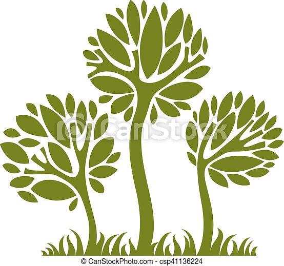 art, nature, image, symbolique, illustration, créatif, idea., arbre, vecteur, forêt, concept., plante - csp41136224