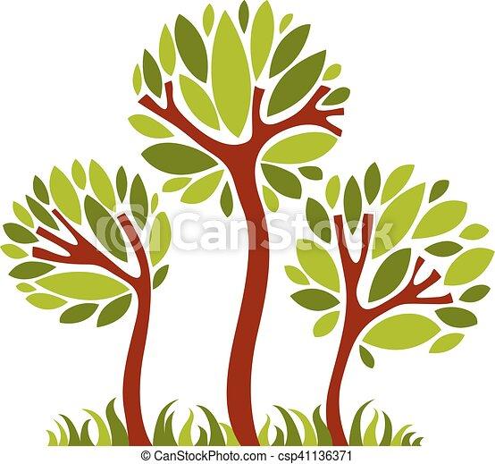 art, nature, image, symbolique, illustration, créatif, idea., arbre, vecteur, forêt, concept., plante - csp41136371