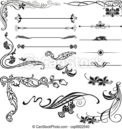 art nouveau corners and dividers art nouveau ornament corners and rh canstockphoto com art nouveau flower clipart free art nouveau clipart borders