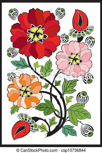 Art Nouveau Rose Design