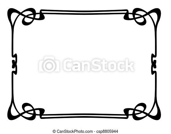 art nouveau ornamental decorative frame - csp8805944
