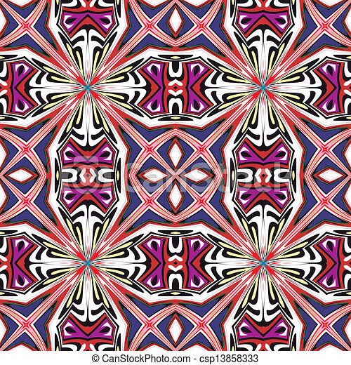 Art nouveau tile. Seamless artistic vector pattern with historic ...