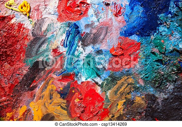 Art palette background           Save to a lightbox ?                       find similar images      share share ?   - csp13414269