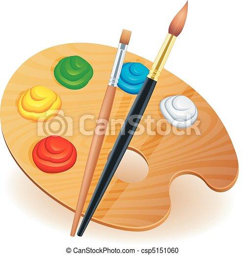 Art palette. - csp5151060