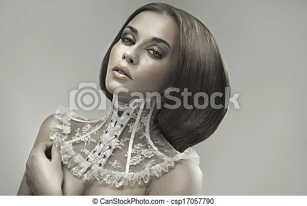 Art photo presenting the portrait of woman - csp17057790