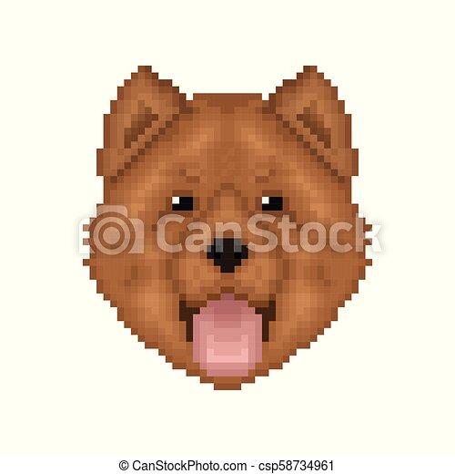 Art Portrait Pixel Chow Chow