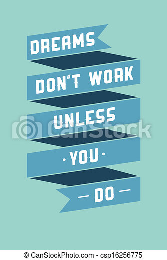 Art poster with motivational phrases - csp16256775