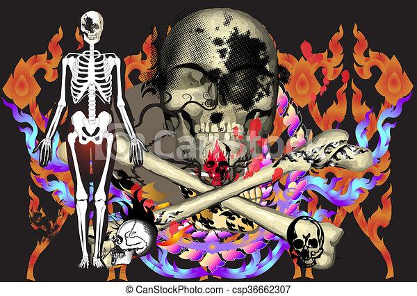 art-rock-skulls - csp36662307