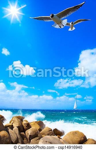 art sea background - csp14916940