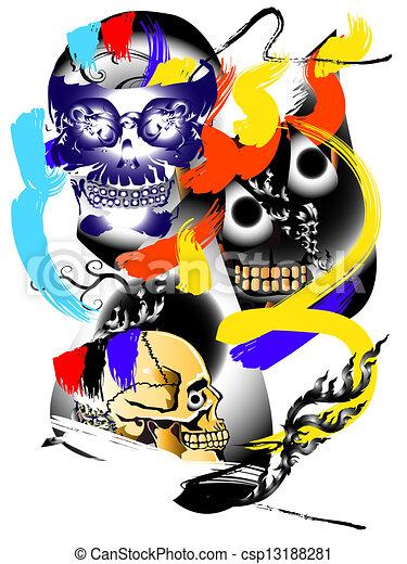 art skull abstract - csp13188281