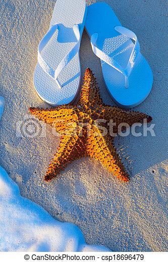 Art Summer holidays sea beach  background - csp18696479