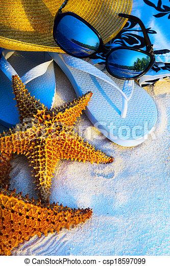 Art Summer holidays sea beach  background - csp18597099