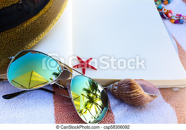 art Summer vacation; enjoy happy holiday on the Summer beach - csp58306092