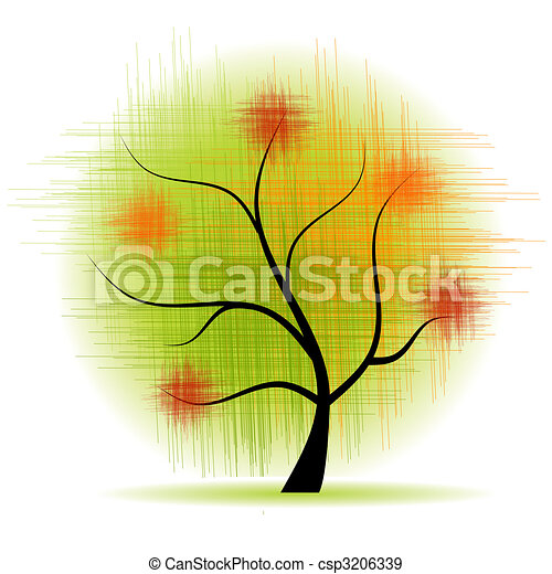 Art tree beautiful - csp3206339