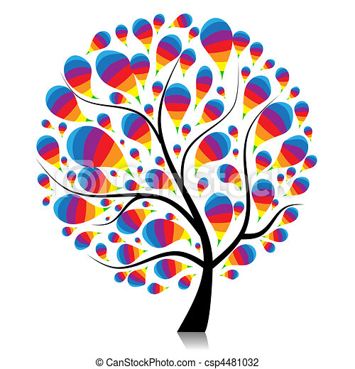 Art tree beautiful for your design  - csp4481032