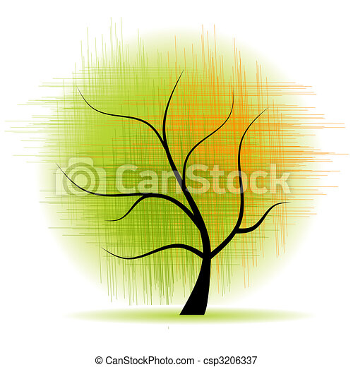 Art tree beautiful - csp3206337