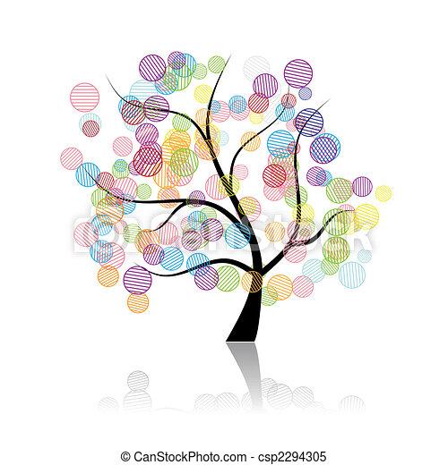 Art tree fantasy - csp2294305