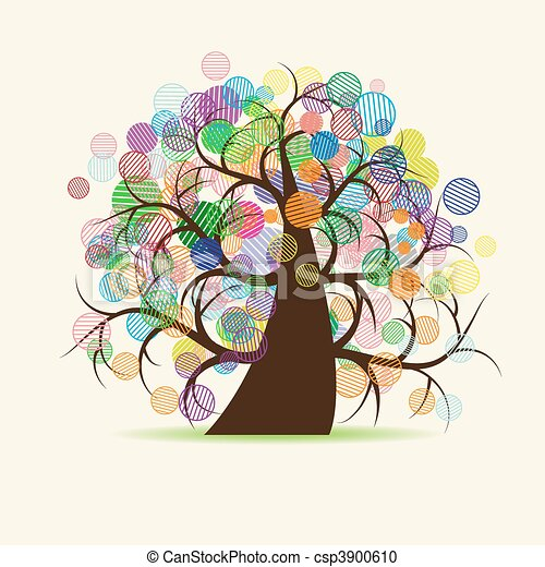 Art tree fantasy - csp3900610
