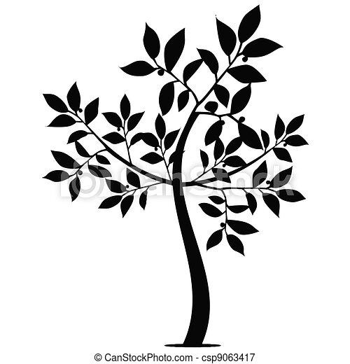 Art Tree Silhouette - csp9063417