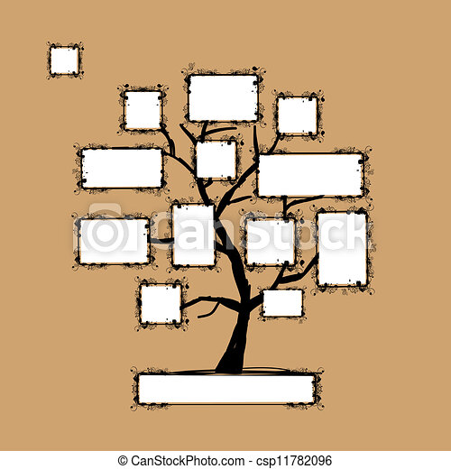 Art tree with frames, place for your text or photo - csp11782096