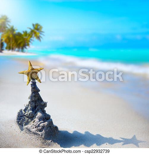 art tropical Christmas holiday - csp22932739