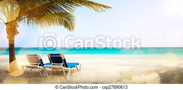 art vacation on the sea, background - csp27890613