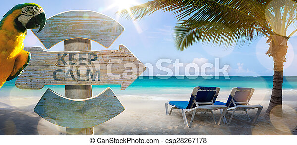 art vacation on the sea, background - csp28267178