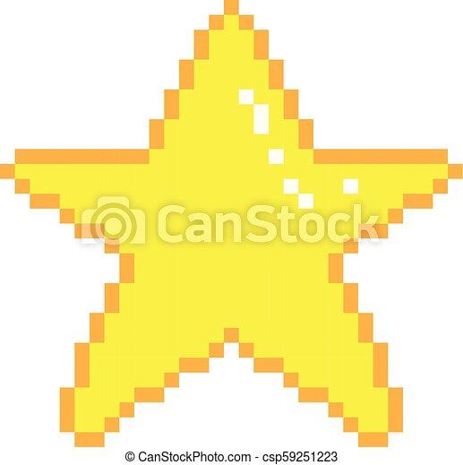 Art Vecteur étoile Pixel